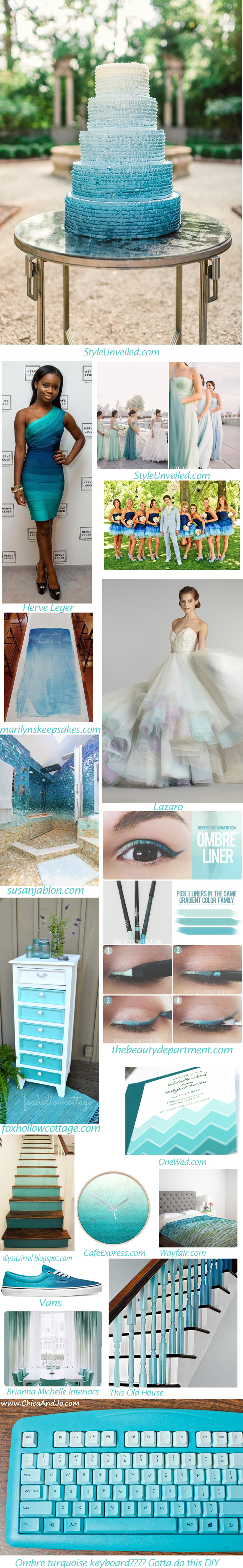Turquoise Ombre Things!