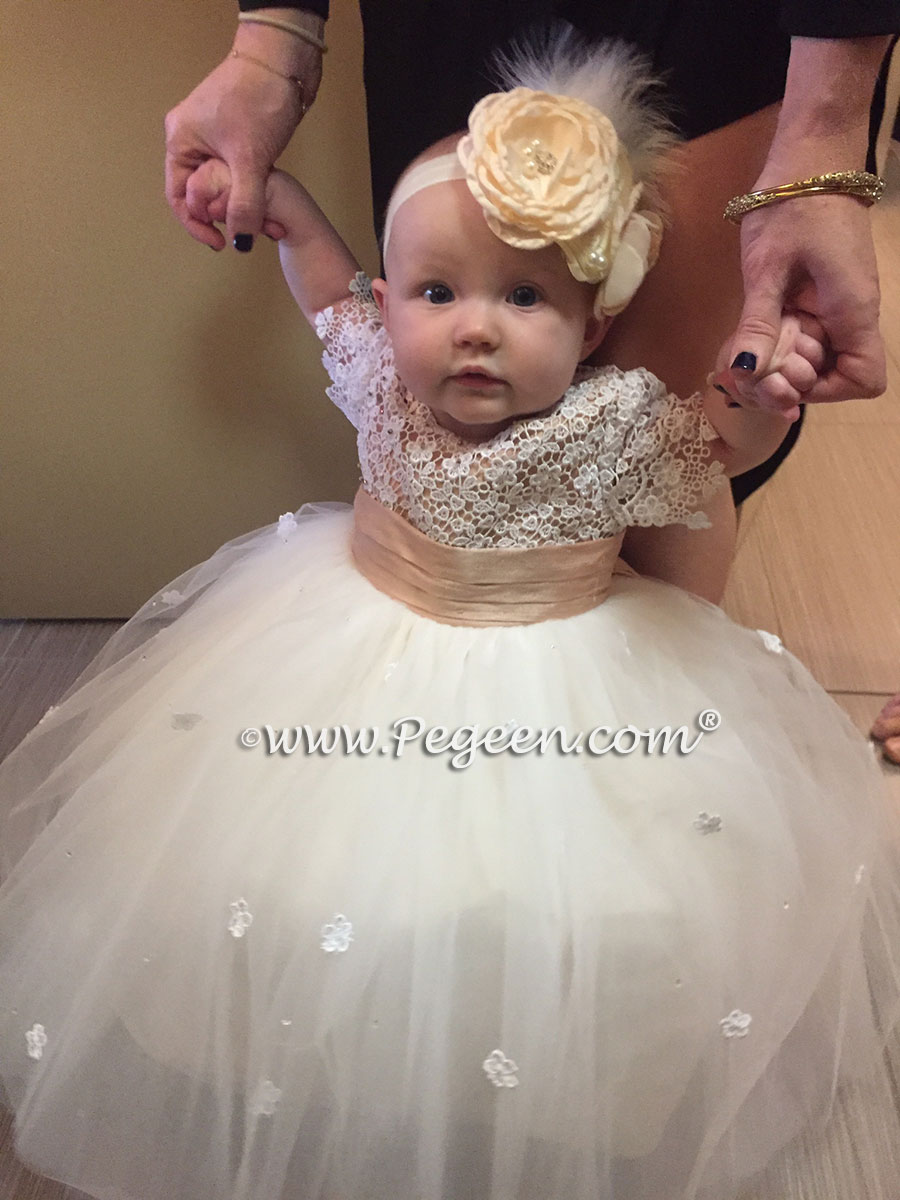 infant flower girl dress by Pegeen.com