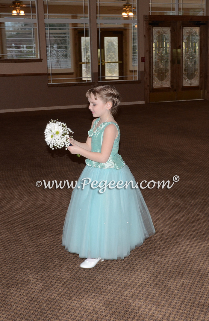 Frozen Fairy Tale Flower Girl Dress by Pegeen.com